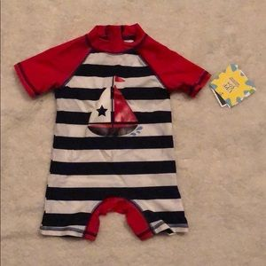 NWT Little Me Swimmer one piece